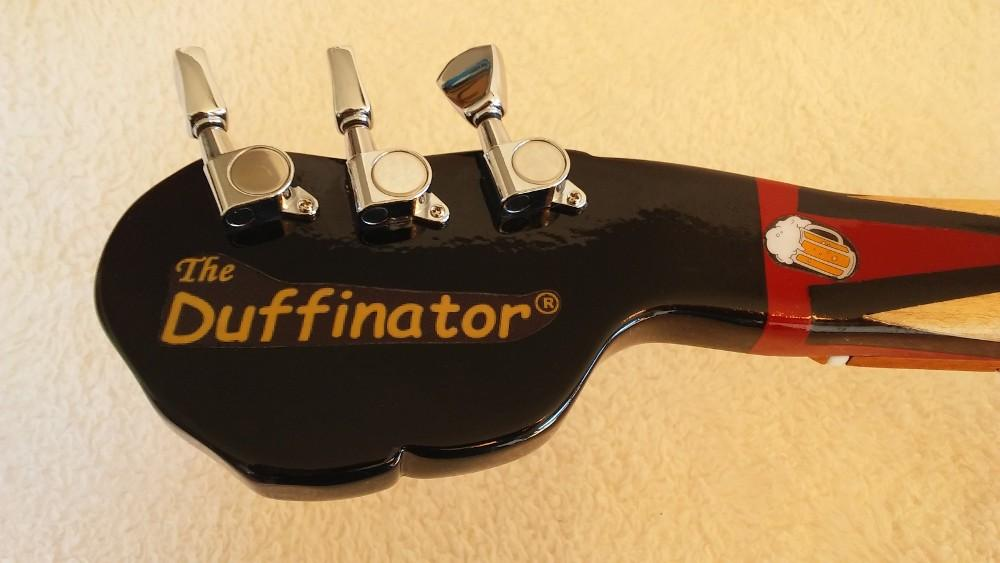 Back of headstock Duff Beer guitar by Jim S.