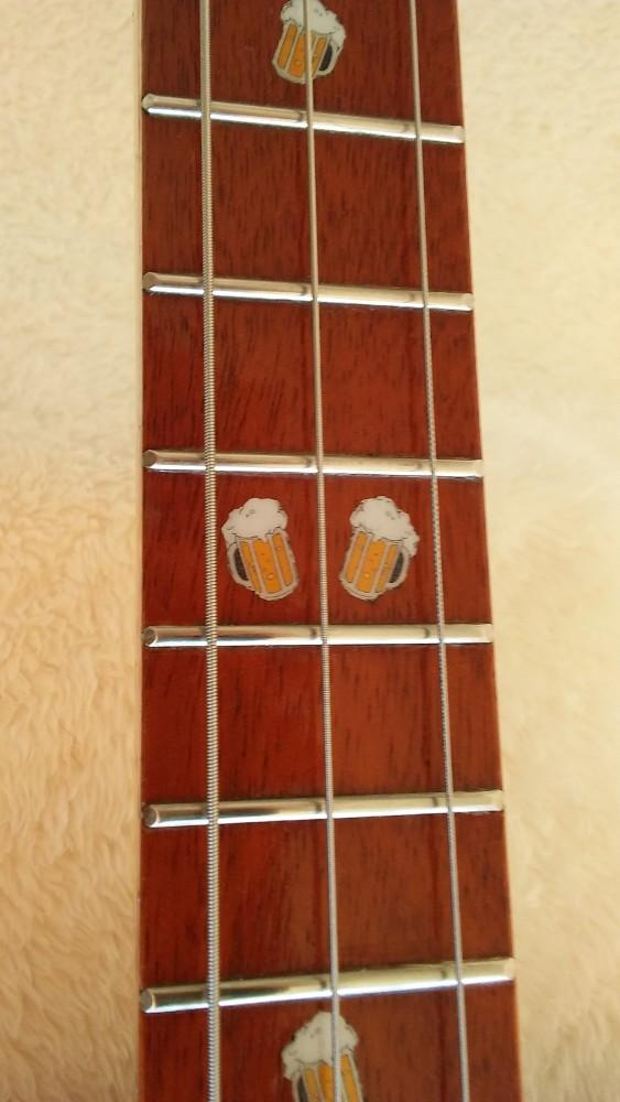 Beer mug fret markers on Duff Beer guitar by Jim S.