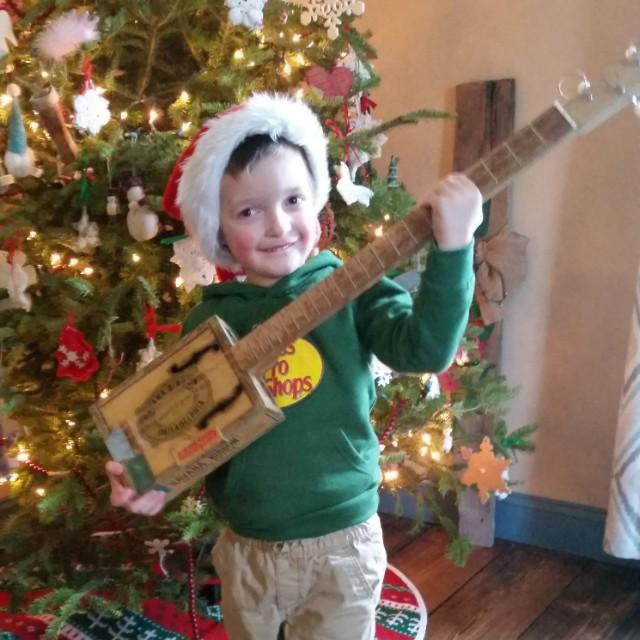 3-string cigar box guitar gift built by Jason J.