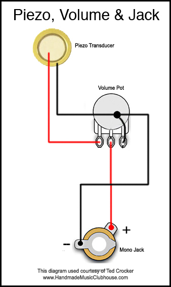4 Ways To Electrify Your Cigar Box Guitars With Piezo Pickup Harnesses [ Diagrams Included] - C. B. Gitty Crafter Supply | Guitar Wiring Diagrams 2 Pickups 1 Piezo |  | CB Gitty Crafter Supply