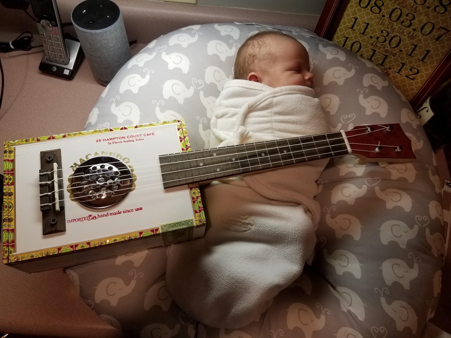 Baby's first ukulele, built by Joey S.
