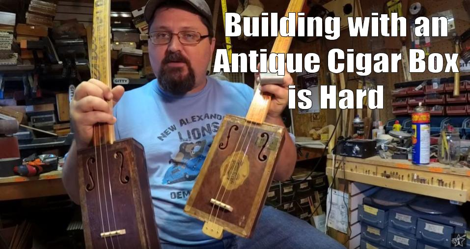 Shane Speal thinks building CBGs with antique cigar boxes can be difficult
