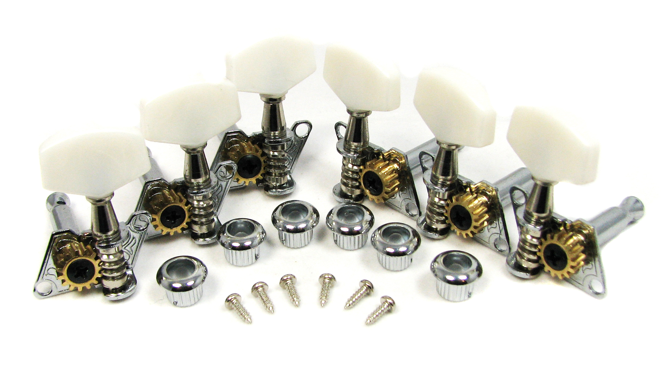 Chrome Open-Gear Economy Tuners/Machine Heads