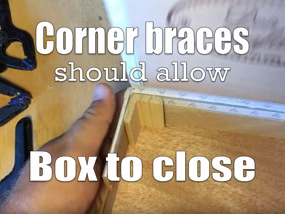 Corner molding dry-fit to inside box corner