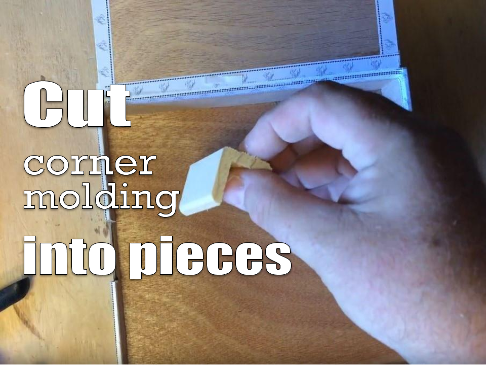 Corner molding cut into pieces