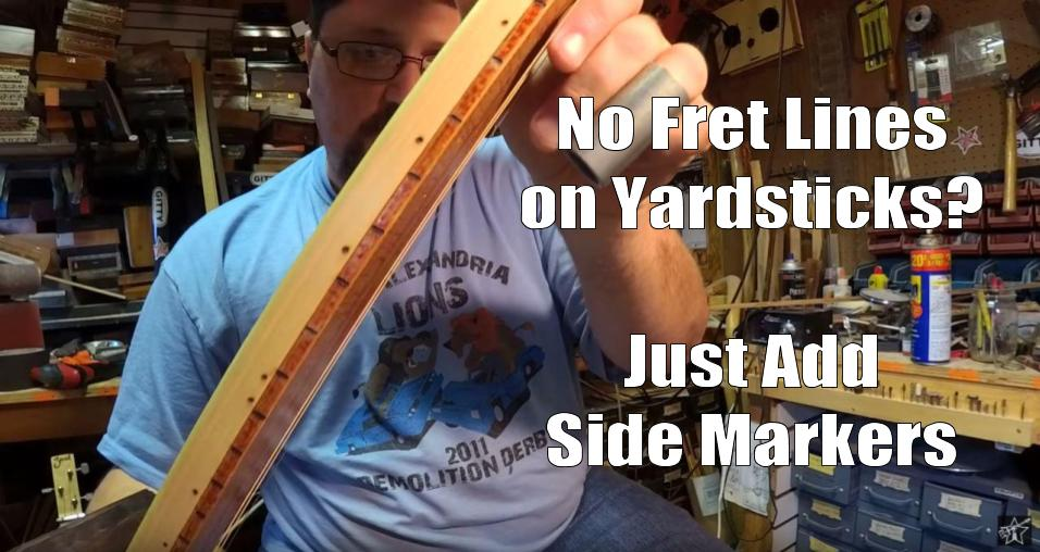 Shane Speal suggests adding side markers to cigar box guitar necks
