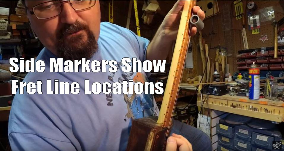 Shane Speal demonstrates how side markers display fret line locations