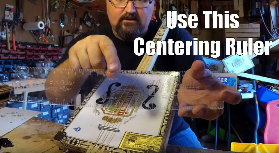 Shane Speal uses a C. B. Gitty centering ruler